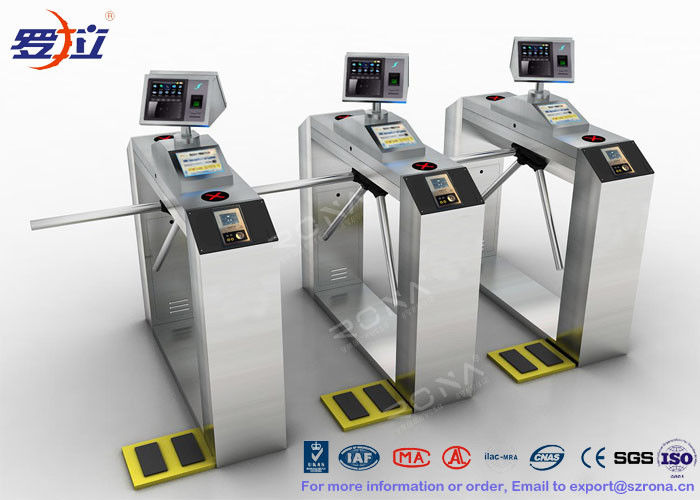 TCP / IP Door Security Access Control Turnstiles RFID Automatic Tripod Turnstile Gate