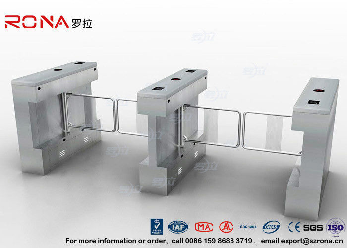 Automatic Pedestrian Swing Gate RFID Card Reader Infrared Sensor Security Turnstile