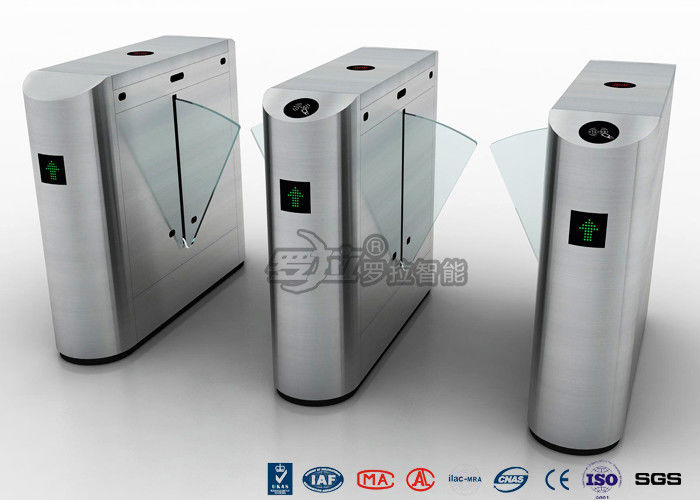 Auto Retractable Entrance Waist High Turnstile With Face Recognition / Card Reader