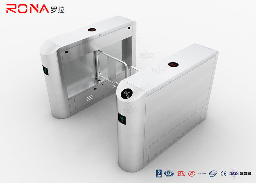 Anti Pinch Security Swing Gate Turnstile Stainlee Steel Card Readers Single / Bi - Directional