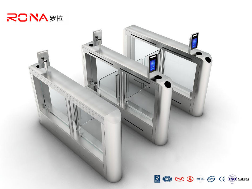 Face Recognition Swing Gate Turnstiles 304 Stainless Steel Automatic Access Control Gate